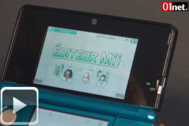 Nintendo 3DS, l'interface