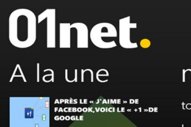 L'application 01net. disponible pour Windows Phone 7 et WebOS