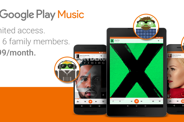 Google Play Music : un abonnement familial à 14,99 dollars