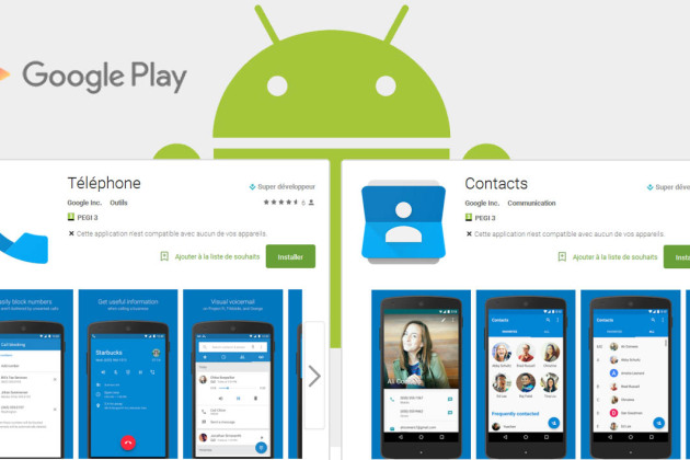 Google lance ses applications « Contacts » et « Téléphone » sur le Play Store
