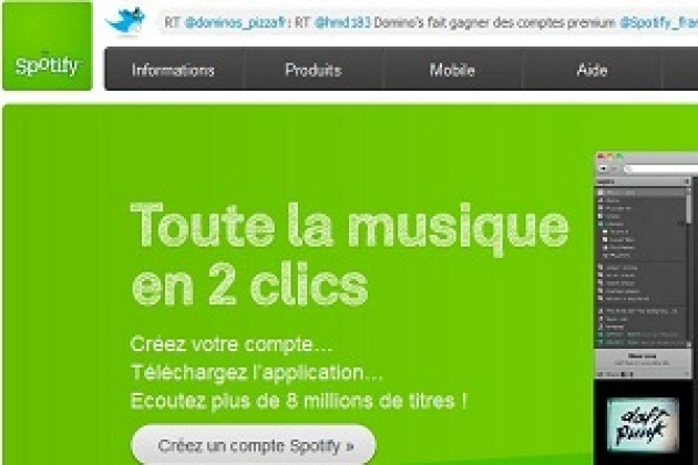 Spotify bientôt accessible sur Facebook ?