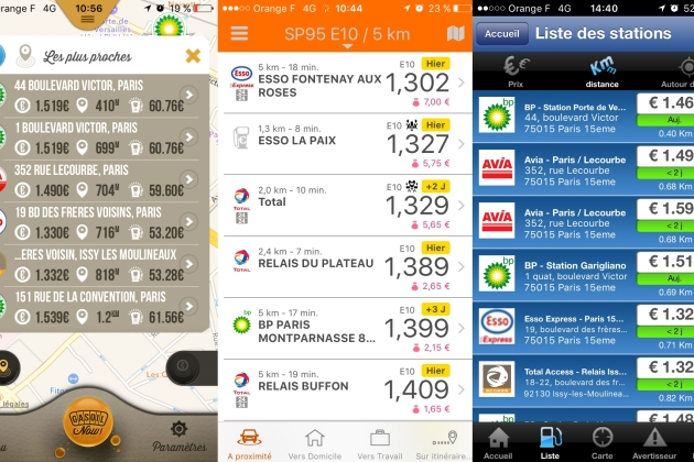 5 applications gratuites pour trouver de l'essence sur Android, iPhone, et Windows Phone