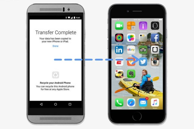 Apple proposera son appli de migration d'Android vers iOS le 25 septembre