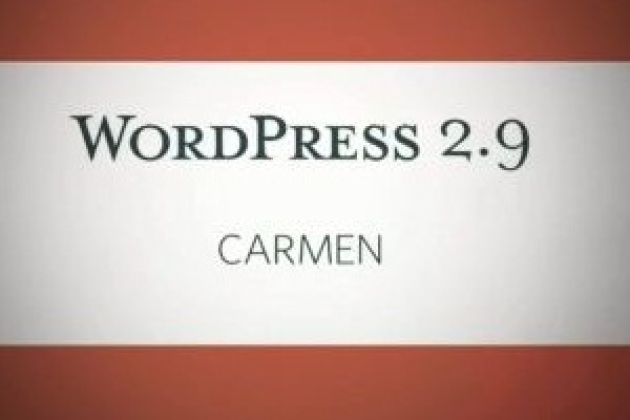 WordPress 2.9 disponible en téléchargement