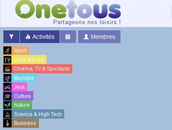 Onetous : Cette plate-forme organise vos loisirs