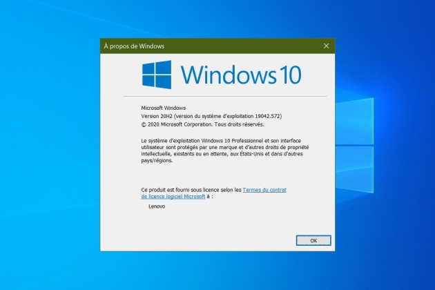 Windows 10 : comment installer la mise à jour October 2020 update ?