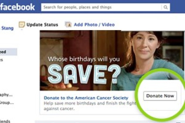 Facebook met en place un bouton de don aux associations caritatives
