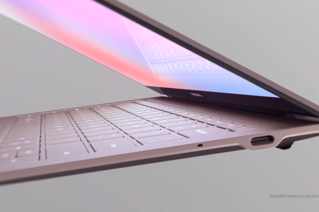 Le Galaxy Book S de Samsung.