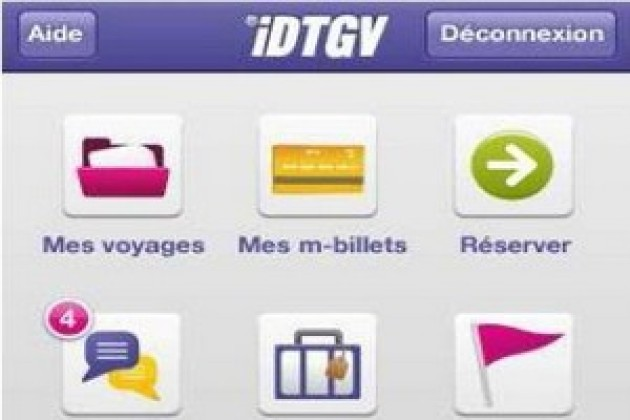 L'iPhone, le nouveau billet de train des iDTGV