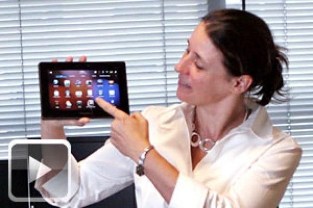Coulisses du 01Lab : la tablette BlackBerry PlayBook de RIM