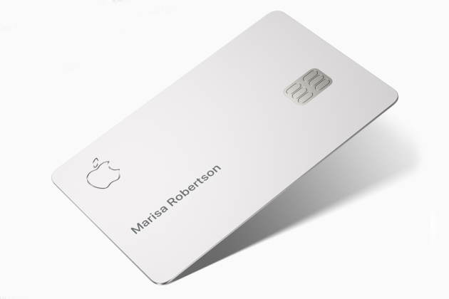 Le design ultra minimaliste de l'Apple Card.