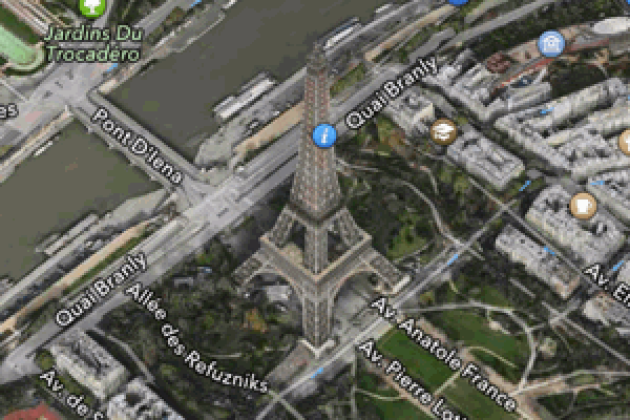 Apple enrichit Plans, dans iOS 6, et passe Paris en 3D