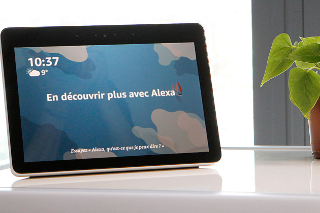 La version française de l'Echo Show d'Amazon.
