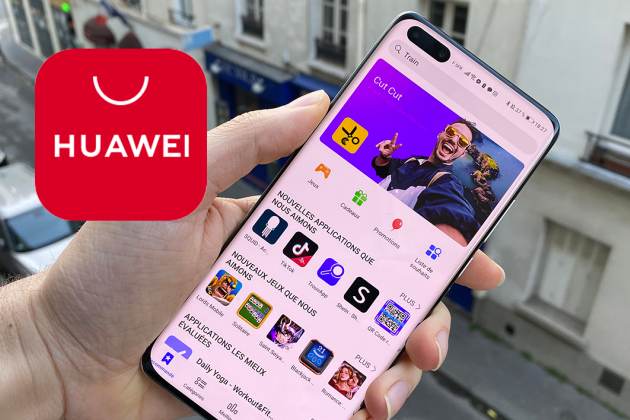 La page d'accueil de l'AppGallery, le magasin d'applications des smartphones Huawei.