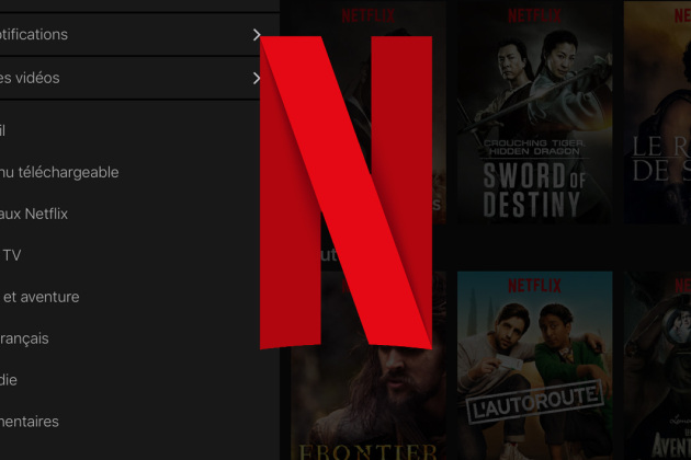 Capture de l'application Netflix