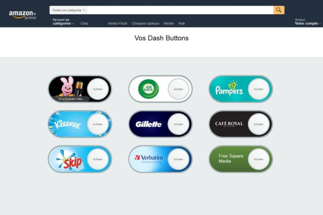 Amazon lance ses Virtual Dash Buttons en France