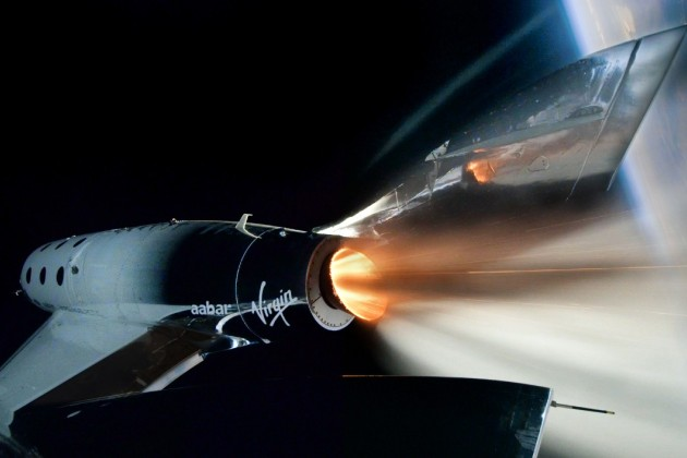 L'avion suborbital de Virgin Galactic.