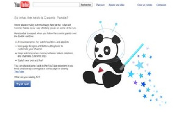 Avec Cosmic Panda, YouTube revisite son interface