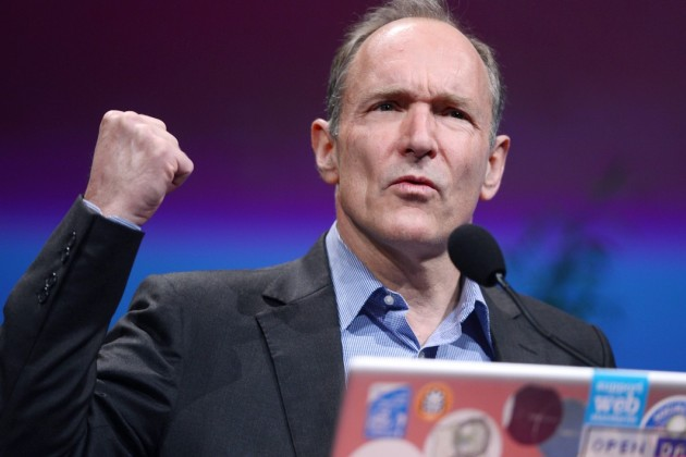 Tim Berners-Lee en 2012 à Lyon.