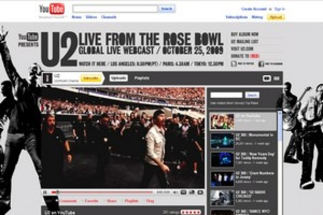 Un concert de U2 en direct sur YouTube