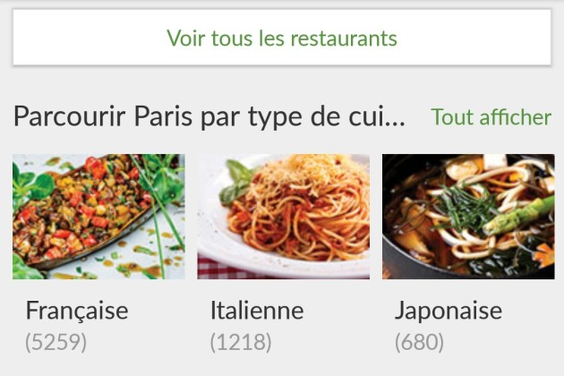 5 applications gratuites pour trouver un restaurant sur Android, iPhone et Windows Phone