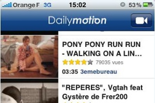 Dailymotion s'installe sur l'iPhone
