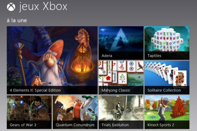 Windows 8 (8/9) : l'univers XBox envahit les tablettes