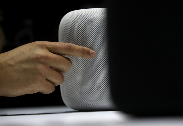 L'enceinte HomePod d'Apple.