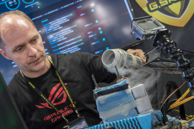 On a testé l'overclocking de PC à l'azote liquide au Computex