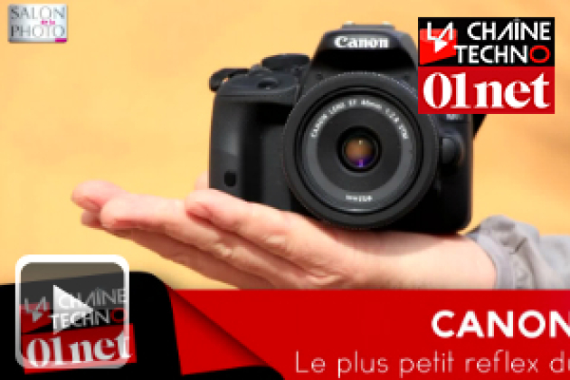 [Salon de la photo] Canon 100D, le plus petit reflex du monde