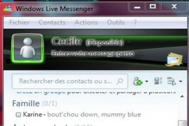 Windows Live Messenger interdit les liens hypertexte
