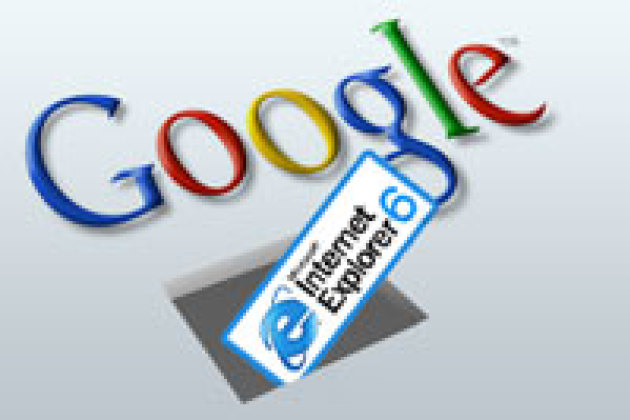 Google met Internet Explorer 6 sur la touche