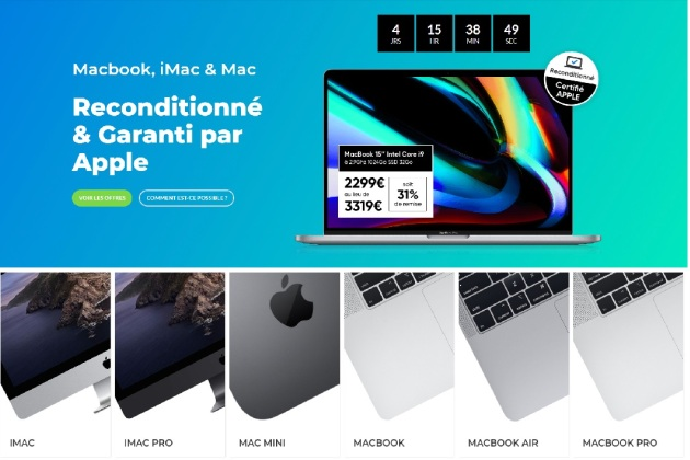 FactoREFURB, le site français qui propose des ordinateurs Apple reconditionnés... par Apple