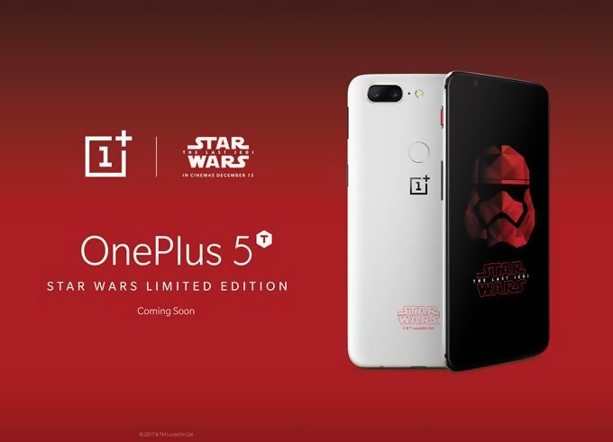 Le OnePlus 5T Star Wars Limited Edition