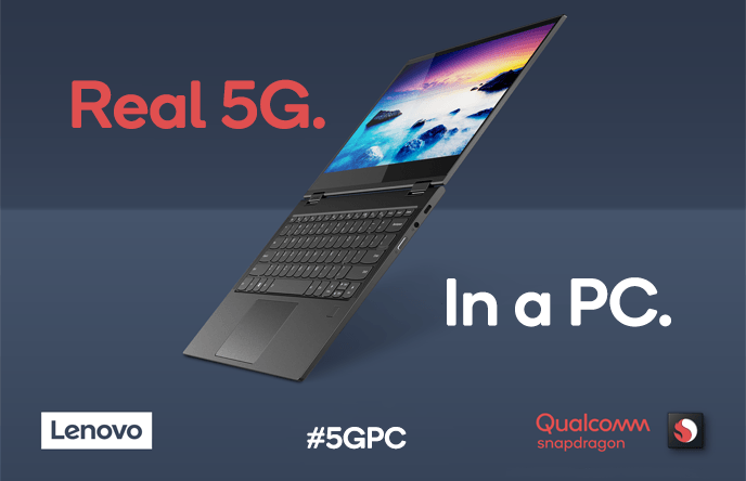 Le premier PC 5G issu de la collaboration entre Qualcomm et Lenovo.