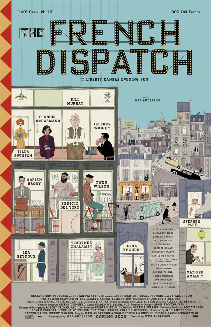 Affiche de The French Dispatch de Wes Anderson