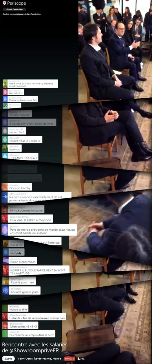François Hollande sur Periscope