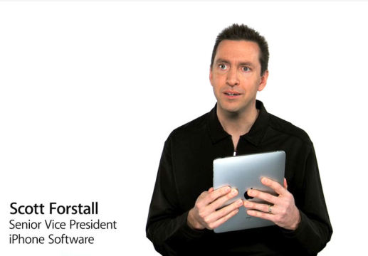 Scott Forstall, Senior Vice President iPhone Software