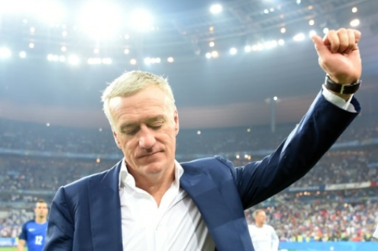 Didier Deschamps à l'issue de la finale de l'Euro-2016 le 10 juillet 2016 au Stade de France à Saint-Denis