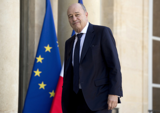 FRANCE, Paris : President of the Radical de Gauche party (PRG) Jean-Michel Baylet, arrives at the Elysee Palace for a meeting with French President, on May 15, 2014 in Paris. AFP PHOTO/ ALAIN JOCARD