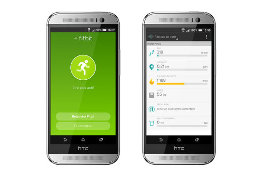 HTC one M8 fitbit