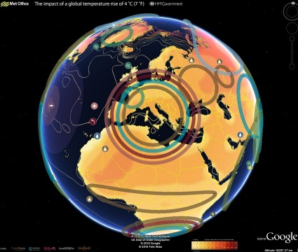 Google Earth version réchauffement climatique