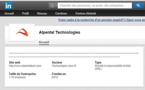 Alpental Technologies sur Linkedin