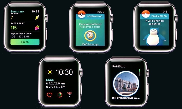Pokémon Go sur Apple Watch