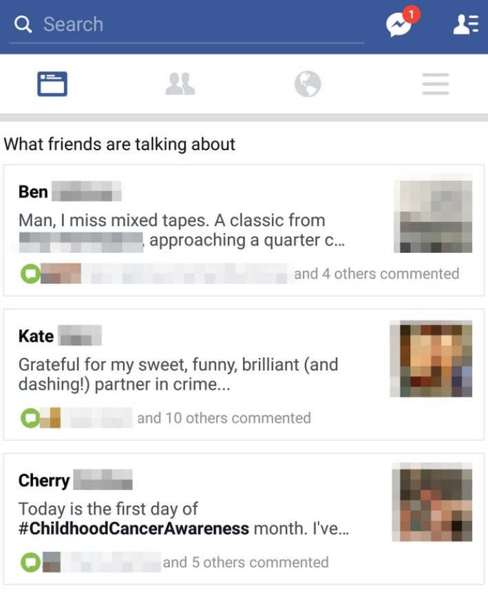 Facebook What friends are talking about