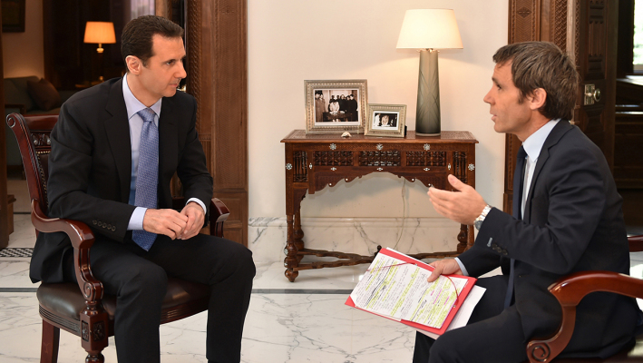 Bachar al-Assad, interviewé par David Pujadas.
