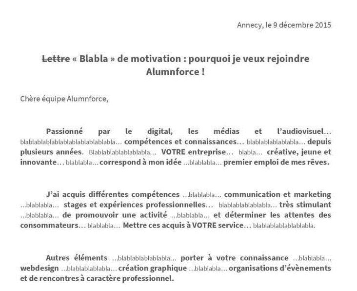 exemple lettre de motivation pour start up