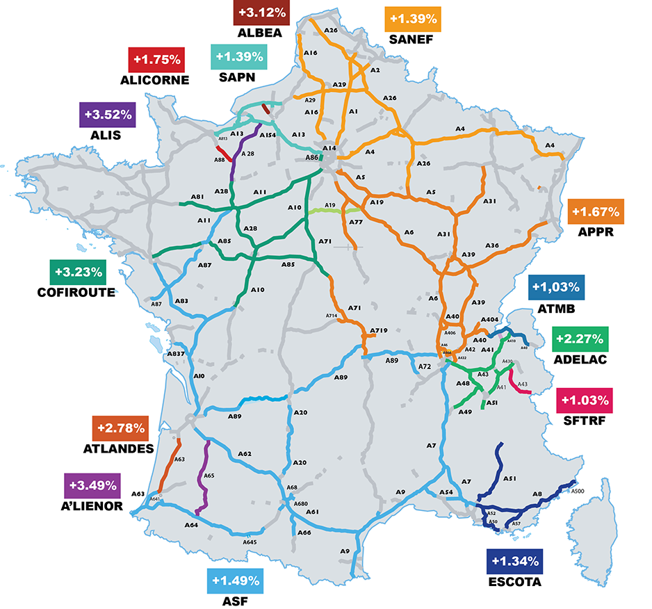 Carte augmentation péages