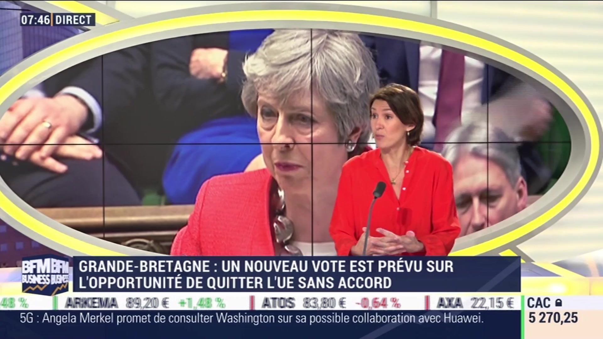 Brexit : rejet d'un nouvel accord, Theresa May en échec