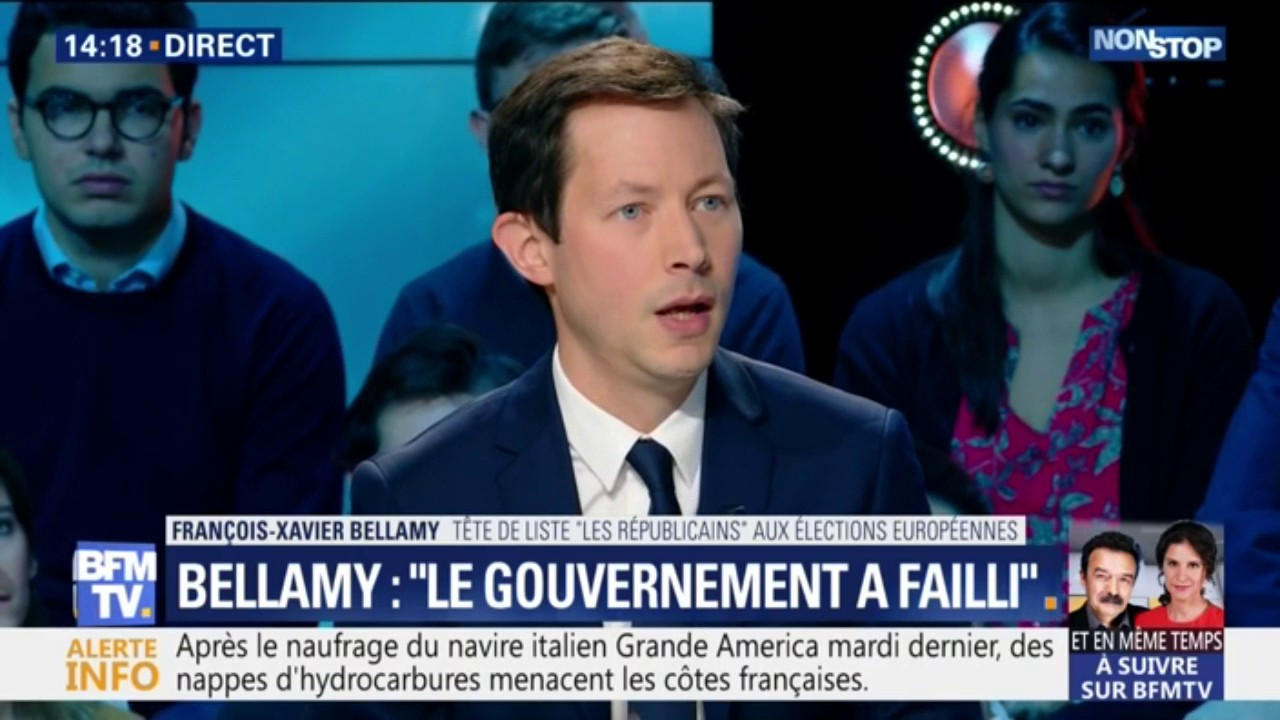 "François-Xavier Bellamy (LR) sur les violences à Paris: ""Le gouvernement a failli"""